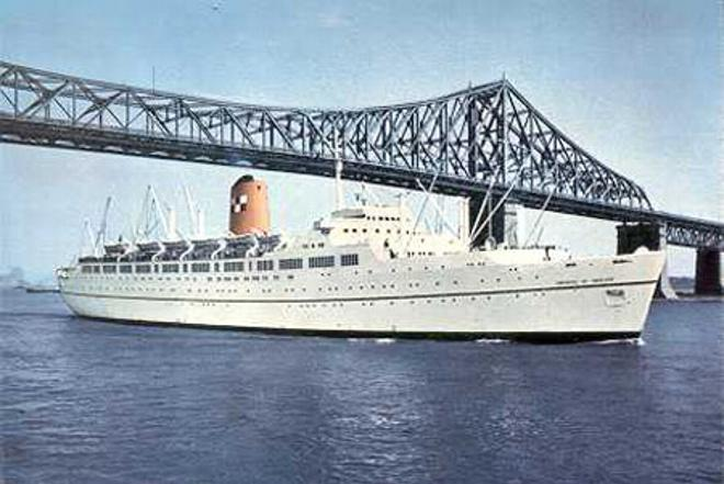 Christopher Newport College First Decaders             Christopher Newport College First Decaders             he Empress of England passing under the Jacque Cartier Bridge in Montreal  Canada  Canadian Pacific Line postcard
