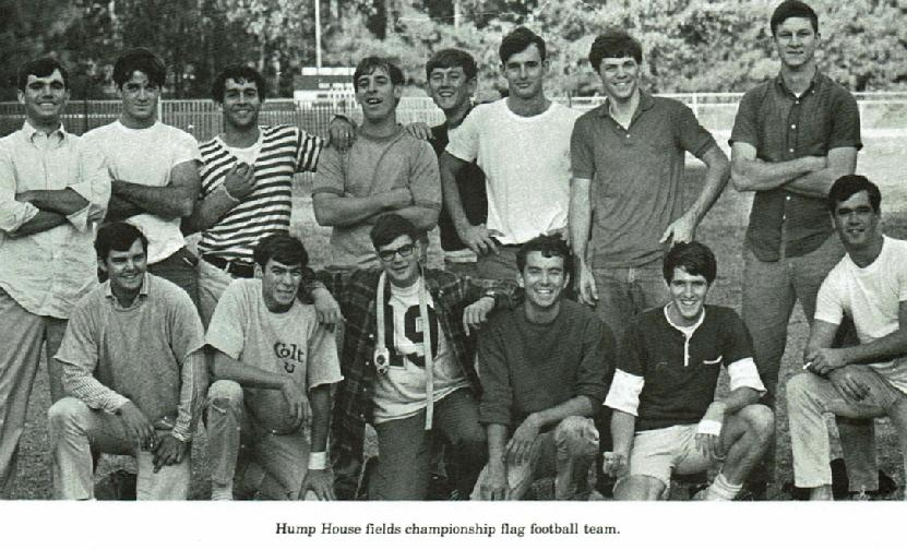 79814193a5 Intramural teams continued to thrive in 1967-68, with flag football still  popular (photo above), but soon losing its number one spot to men's ...